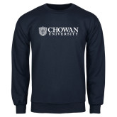 Navy Fleece Crew-Horizontal Primary Mark