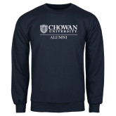 Navy Fleece Crew-Chowan Alumni
