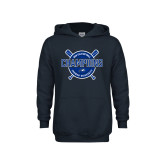 Youth Navy Fleece Hoodie-2018 Softball Champions