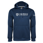 Under Armour Navy Performance Sweats Team Hoodie-Horizontal Primary Mark