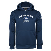 Under Armour Navy Performance Sweats Team Hoodie-Chowan Football