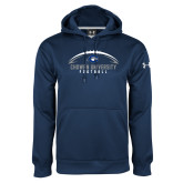 Under Armour Navy Performance Sweats Team Hoodie-Chowan University Football