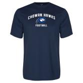 Performance Navy Tee-Chowan Football