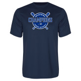 Performance Navy Tee-2018 Softball Champions