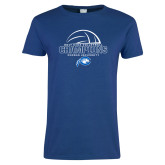 Ladies Royal T-Shirt-2017 Volleyball Champions