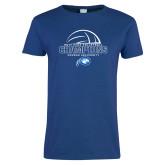 Ladies Royal T Shirt-2017 Volleyball Champions