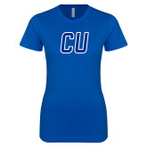 Next Level Ladies SoftStyle Junior Fitted Royal Tee-CU Mark