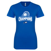 Next Level Ladies SoftStyle Junior Fitted Royal Tee-2018 Womens Tennis Champions