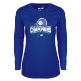 Ladies Syntrel Performance Royal Longsleeve Shirt-2018 Womens Tennis Champions