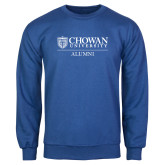 Royal Fleece Crew-Chowan Alumni