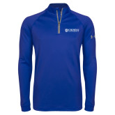 Under Armour Royal Tech 1/4 Zip Performance Shirt-Horizontal Primary Mark