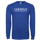 Royal Long Sleeve T Shirt-Chowan University