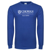 Royal Long Sleeve T Shirt-Chowan Alumni