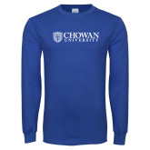 Royal Long Sleeve T Shirt-Horizontal Primary Mark