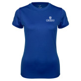 Ladies Syntrel Performance Royal Tee-Primary Mark