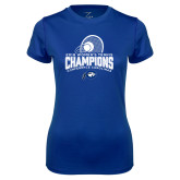 Ladies Syntrel Performance Royal Tee-2018 Womens Tennis Champions