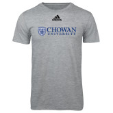 Adidas Sport Grey Logo T Shirt-Horizontal Primary Mark