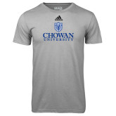 Adidas Climalite Sport Grey Ultimate Performance Tee-Primary Mark