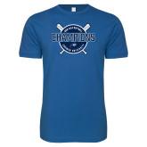Next Level SoftStyle Royal T Shirt-2018 Softball Champions