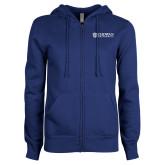 ENZA Ladies Royal Fleece Full Zip Hoodie-Horizontal Primary Mark