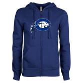 ENZA Ladies Royal Fleece Full Zip Hoodie-Mascot Logo