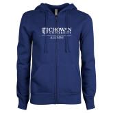 ENZA Ladies Royal Fleece Full Zip Hoodie-Chowan Alumni