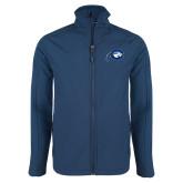 Navy Softshell Jacket-Mascot Logo