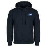 Navy Fleece Hoodie-Mascot Logo