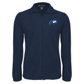 Fleece Full Zip Navy Jacket-Mascot Logo