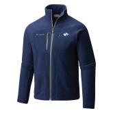 Columbia Full Zip Navy Fleece Jacket-Mascot Logo