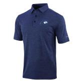 Columbia Navy Omni Wick Sunday Golf Polo-Mascot Logo