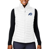Columbia Lake 22 Ladies White Vest-Mascot Logo