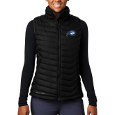 Columbia Lake 22 Ladies Black Vest-Mascot Logo