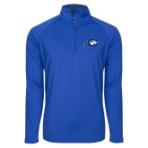 Sport Wick Stretch Royal 1/2 Zip Pullover-Mascot Logo