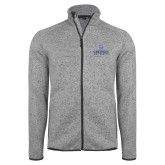 Grey Heather Fleece Jacket-Primary Mark