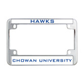 Metal Motorcycle License Plate Frame in Chrome-Hawks