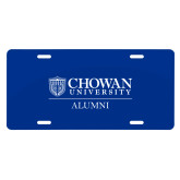 License Plate-Chowan Alumni