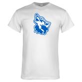 White T Shirt-Wolf Head