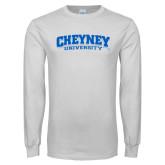 White Long Sleeve T Shirt-Cheyney University