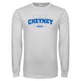 White Long Sleeve T Shirt-Cheyney U Wolves