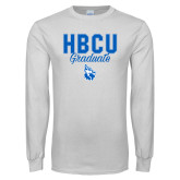 White Long Sleeve T Shirt-HBCU Graduate