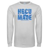 White Long Sleeve T Shirt-HBCU Made