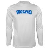 Performance White Longsleeve Shirt-Wolves