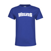 Youth Royal T Shirt-Wolves