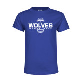 Youth Royal T Shirt-Sharp Net Basketball