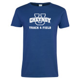 Ladies Royal T Shirt-Track and Field