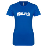 Next Level Ladies SoftStyle Junior Fitted Royal Tee-Wolves