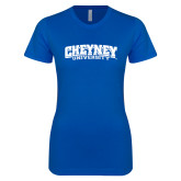 Next Level Ladies SoftStyle Junior Fitted Royal Tee-Cheyney University