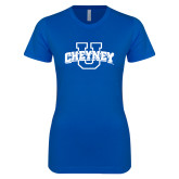 Next Level Ladies SoftStyle Junior Fitted Royal Tee-Cheyney U