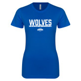 Next Level Ladies SoftStyle Junior Fitted Royal Tee-Track and Field in Bar